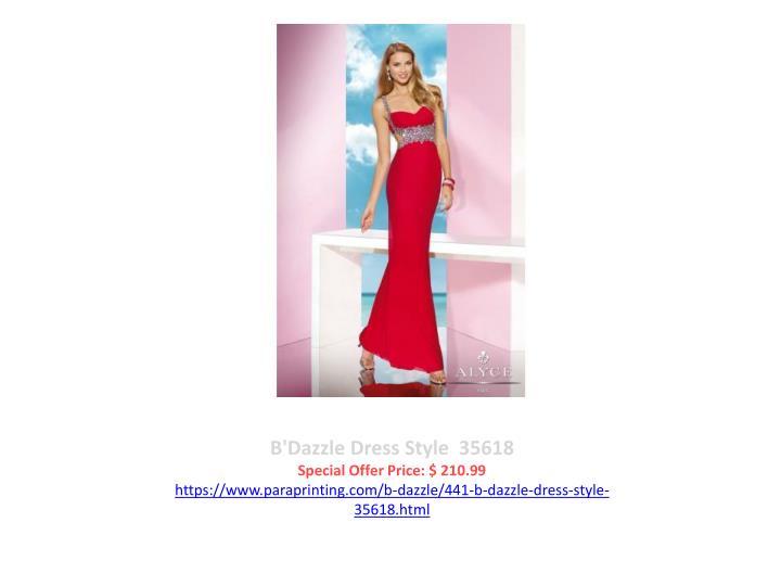B'Dazzle Dress Style  35618