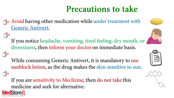 Precautions to take