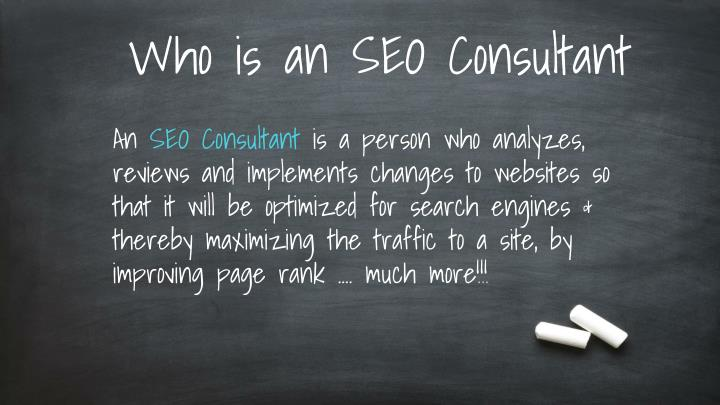 Who is an SEO Consultant