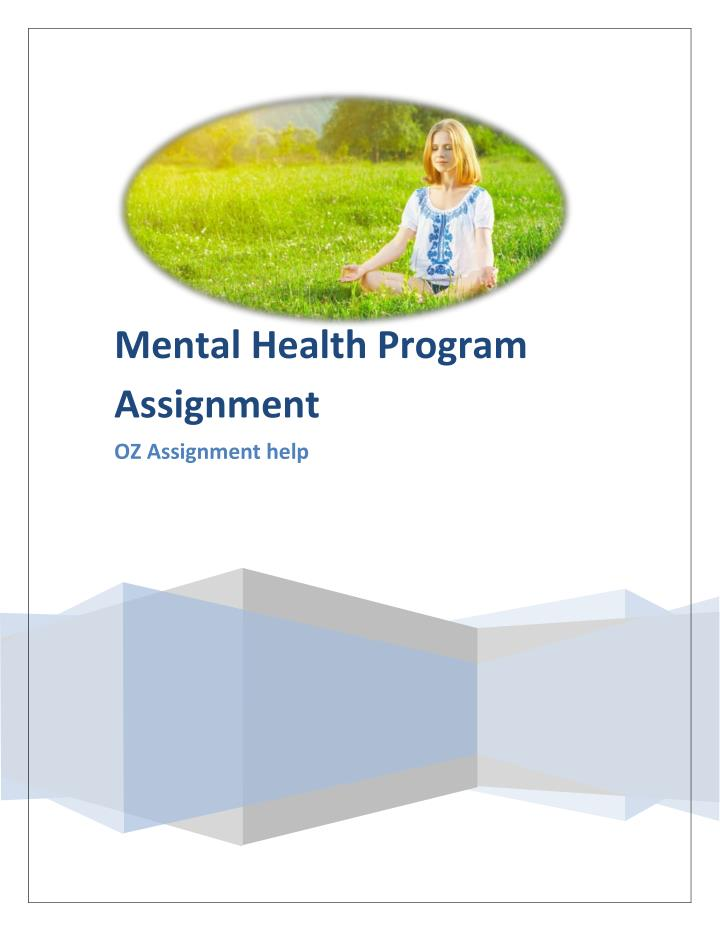 Mental Health Program