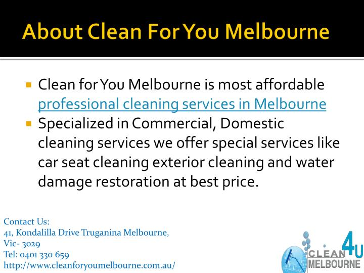 About Clean For You Melbourne