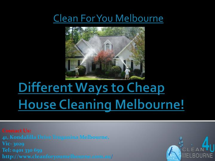 Clean For You Melbourne