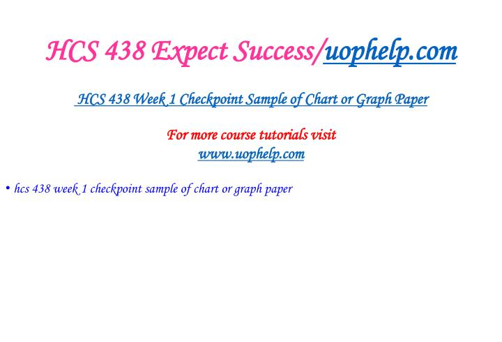 Hcs 438 expect success uophelp com2