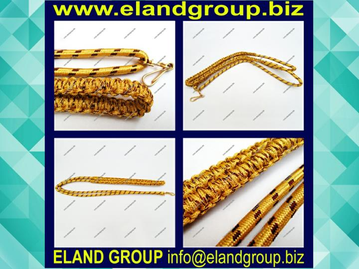 Military band gold lanyard 7423007