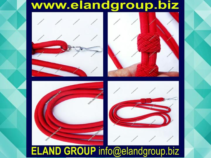 Military officer red whistle cord