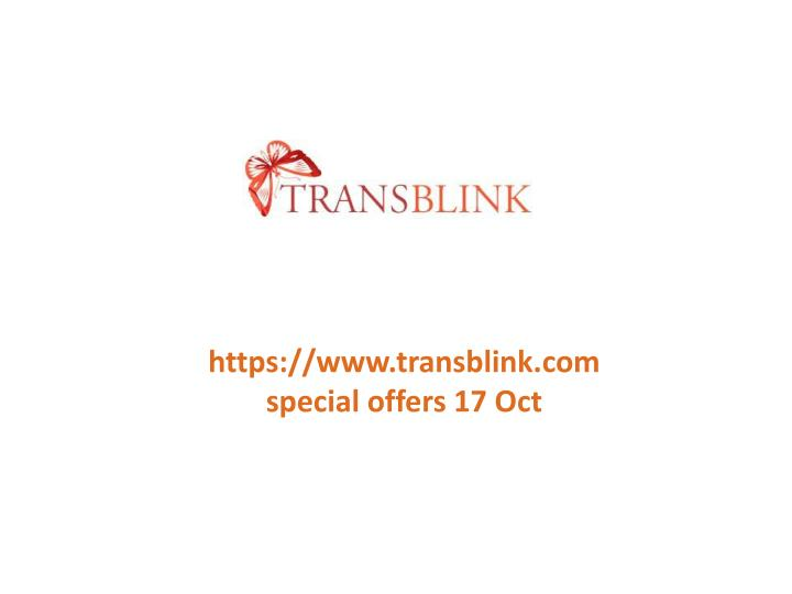 https://www.transblink.comspecial offers 17 Oct