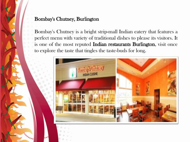 Bombay's Chutney, Burlington