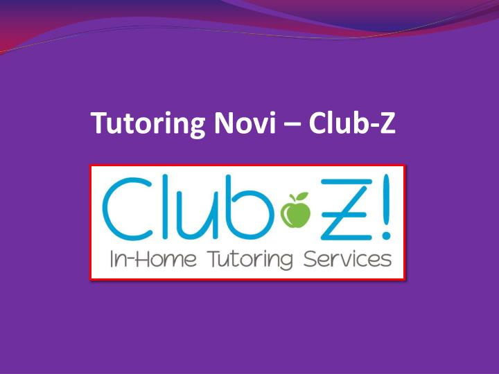 Tutoring Novi – Club-Z
