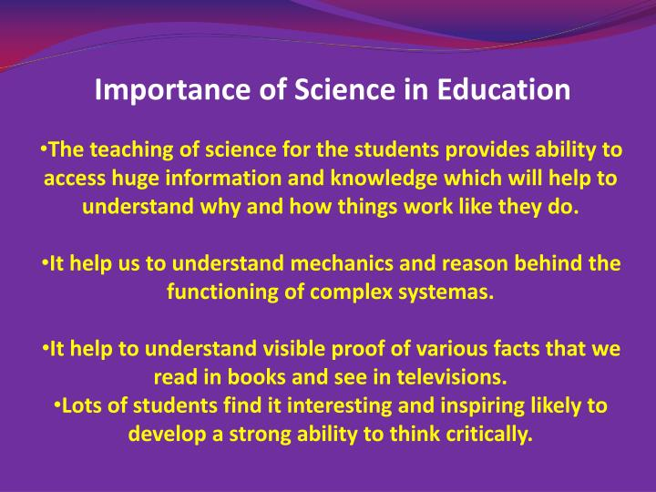 Importance of Science in Education