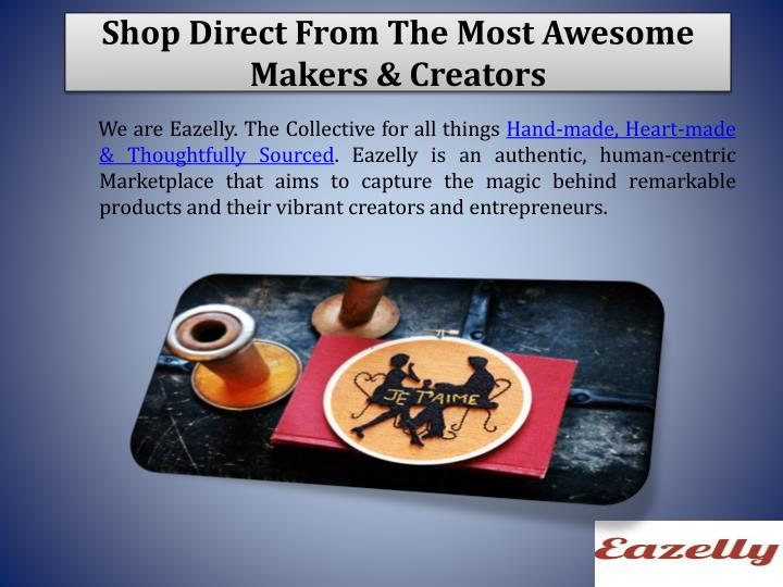 Shop Direct From The Most Awesome Makers & Creators