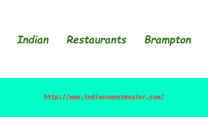 Indian    Restaurants    Brampton