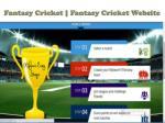 fantasy cricket fantasy cricket website