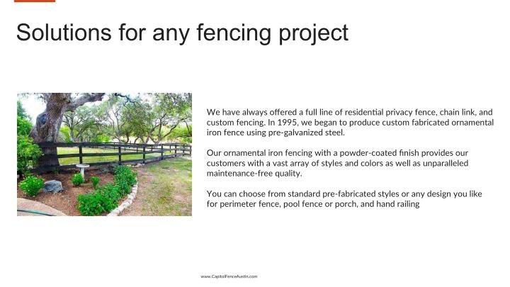 Solutions for any fencing project