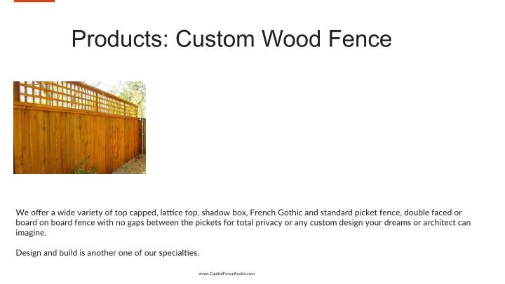 Products: Custom Wood Fence