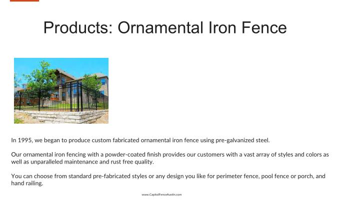 Products: Ornamental Iron Fence
