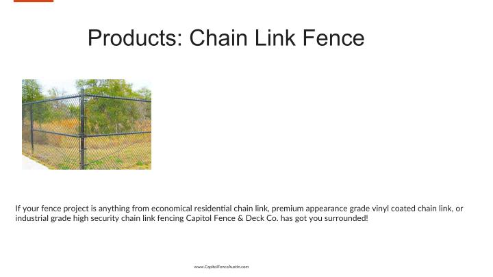 Products: Chain Link Fence