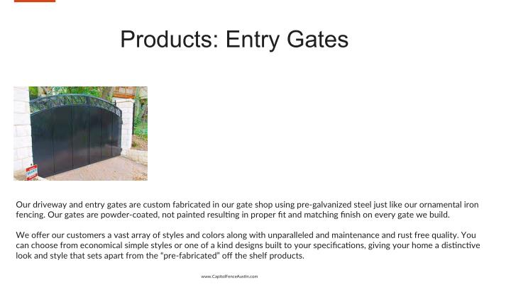 Products: Entry Gates