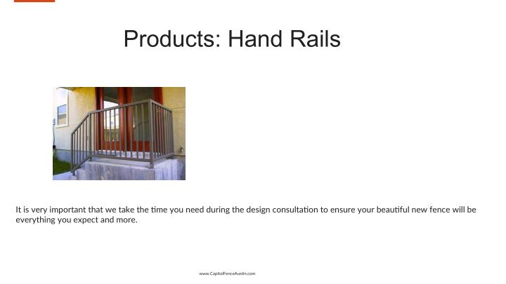 Products: Hand Rails