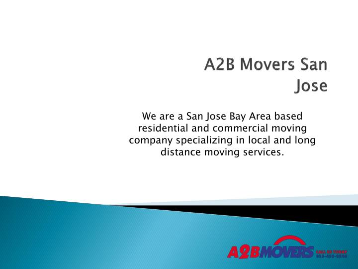 A2b movers san jose