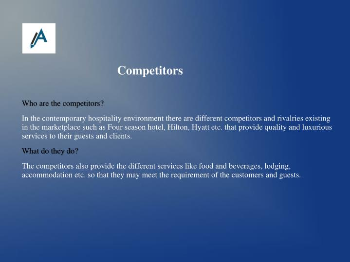 Who are the competitors?