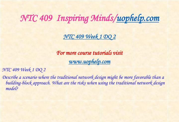 NTC 409  Inspiring Minds/