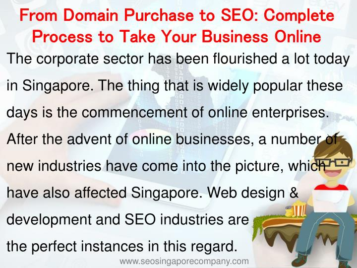 From Domain Purchase to SEO: Complete Process to Take Your Business Online
