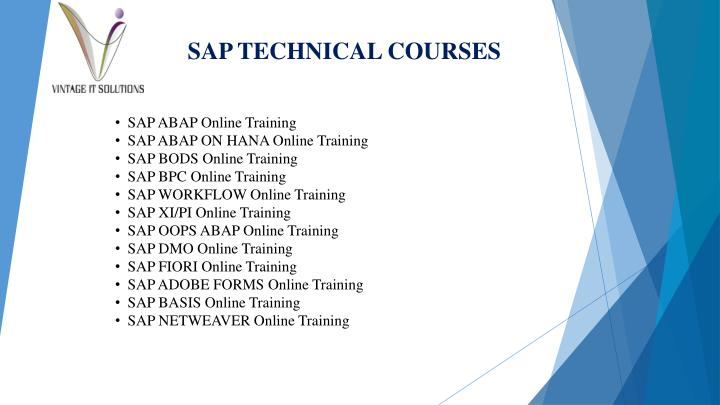 SAP TECHNICAL COURSES