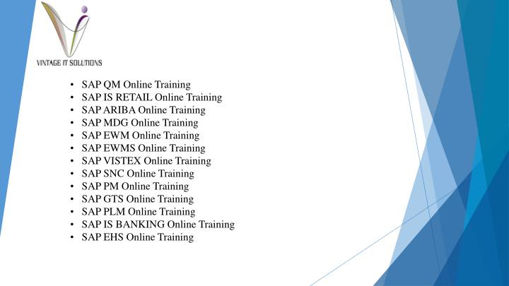 •   SAP QM Online Training