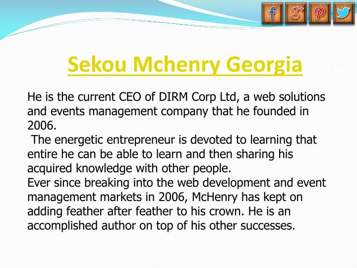 Sekou Mchenry Georgia
