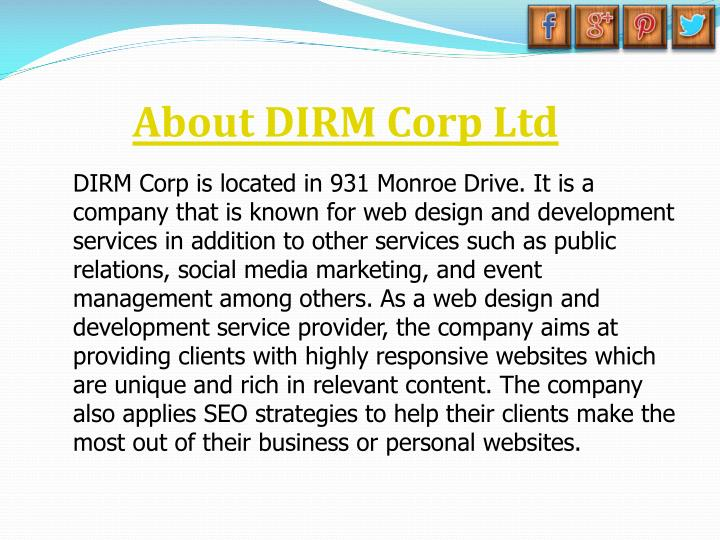 About DIRM Corp Ltd