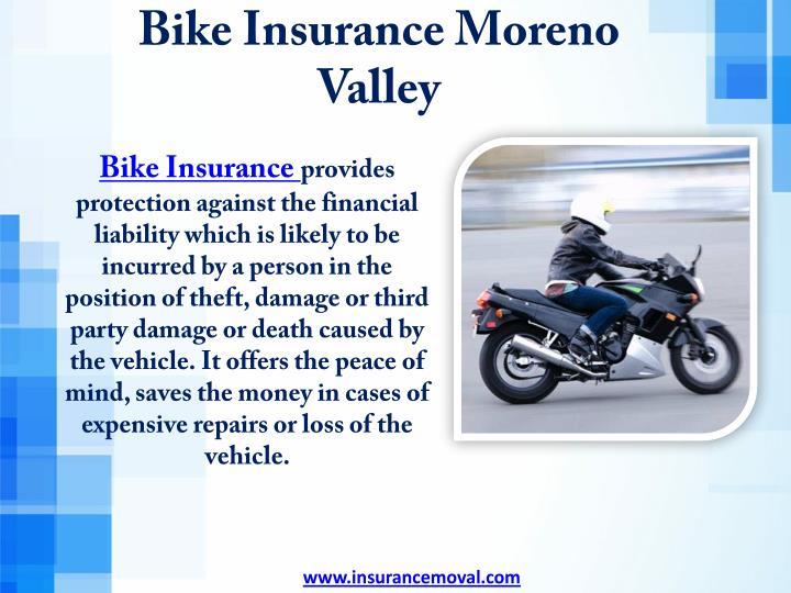 Bike Insurance Moreno