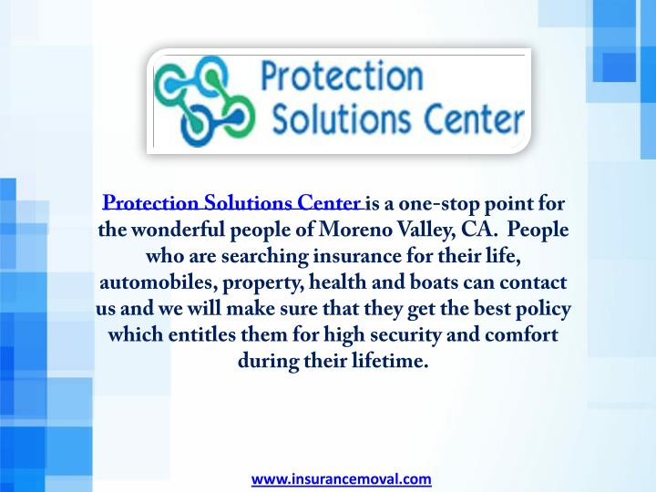 Protection Solutions Center is a one-stop point for
