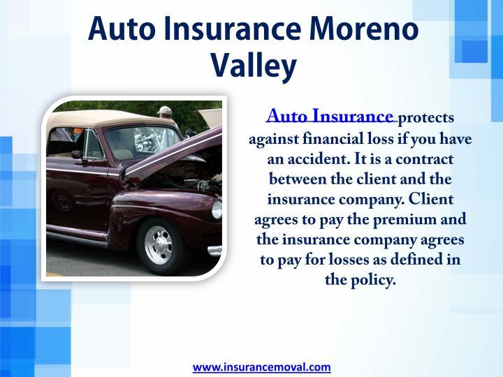 Auto Insurance Moreno