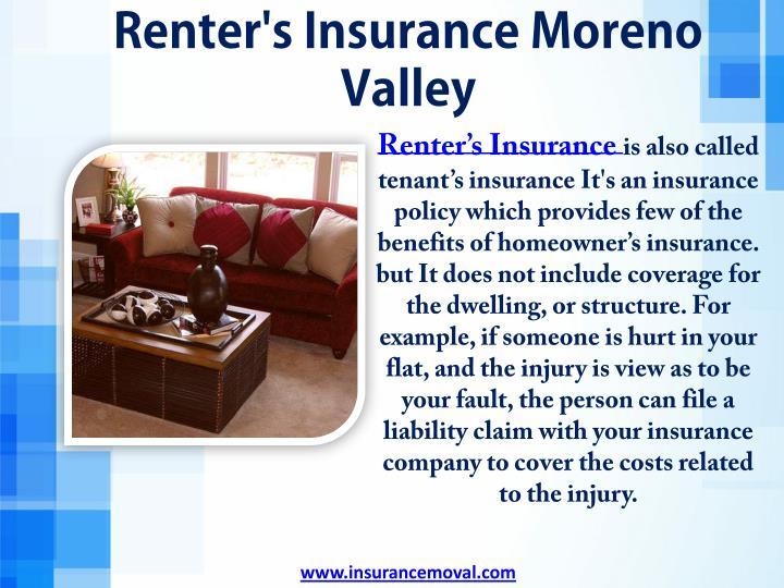 Renter's Insurance Moreno