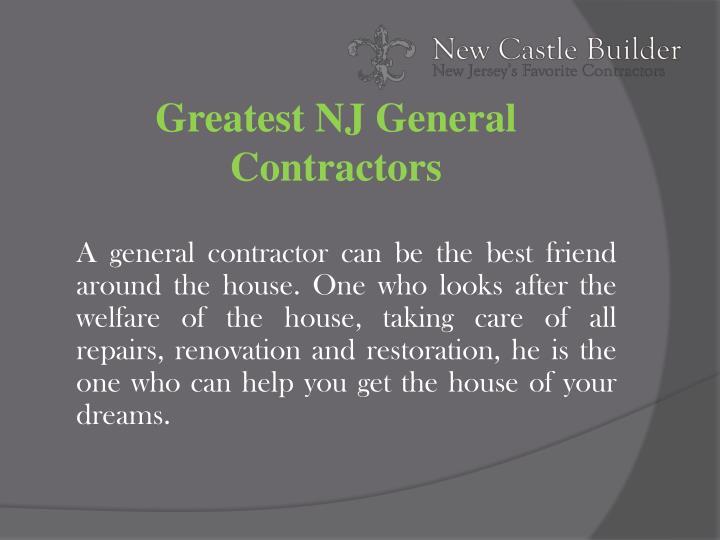 Greatest NJ General Contractors