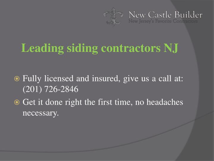 Leading siding contractors NJ
