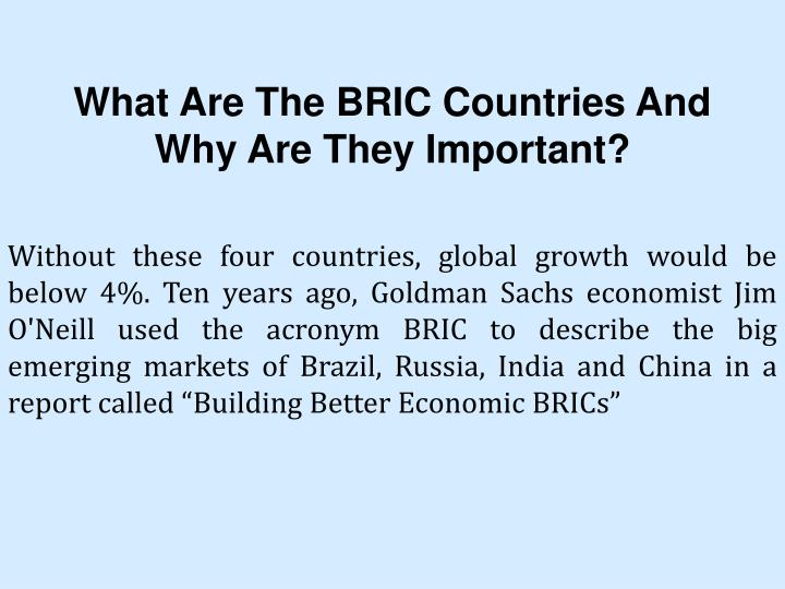 What Are The BRIC Countries And