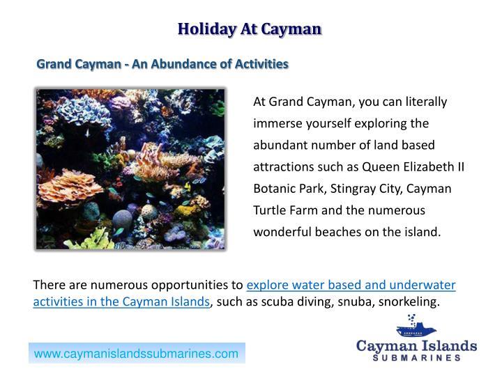 Holiday At Cayman