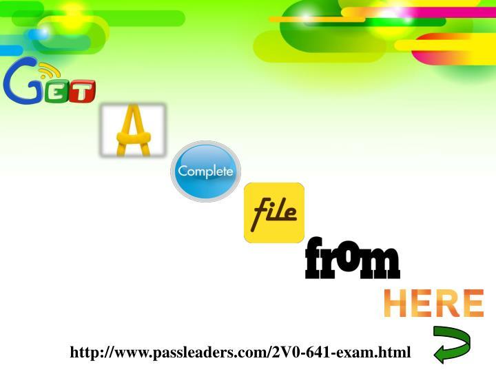 http://www.passleaders.com/2V0-641-exam.html