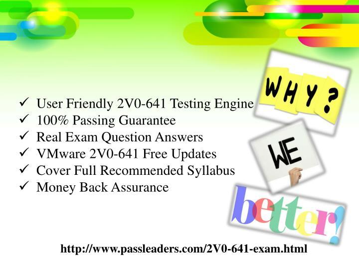 User Friendly 2V0-641 Testing Engine