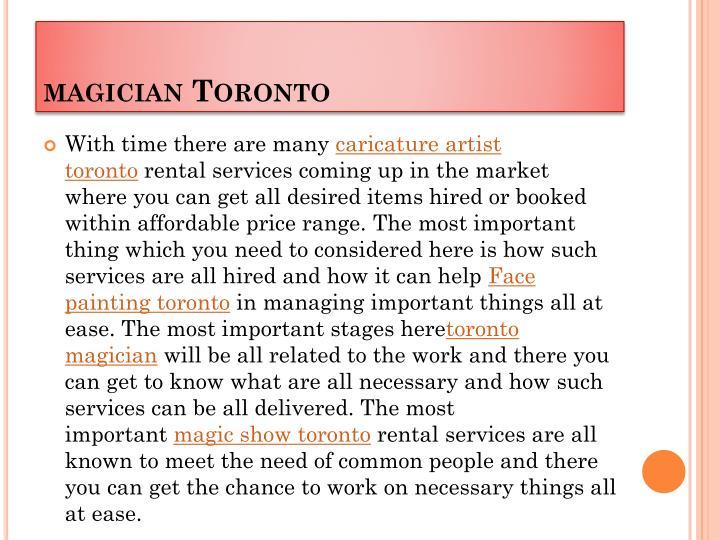 magician Toronto