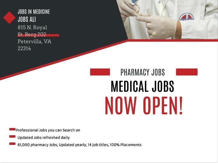 JOBS IN MEDICINE