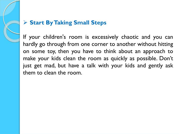 Start By Taking Small Steps