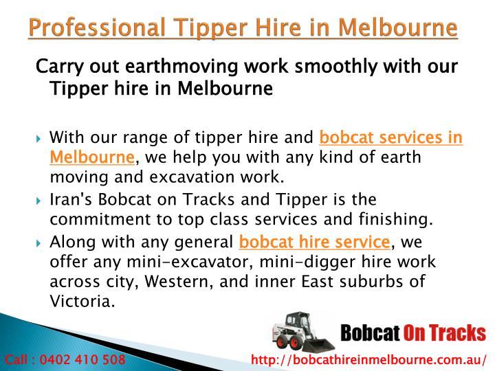 Professional Tipper Hire in Melbourne