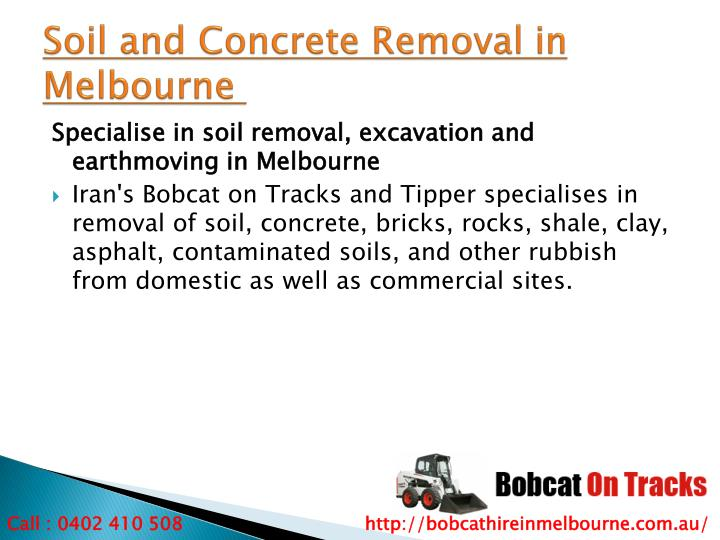 Soil and Concrete Removal in Melbourne