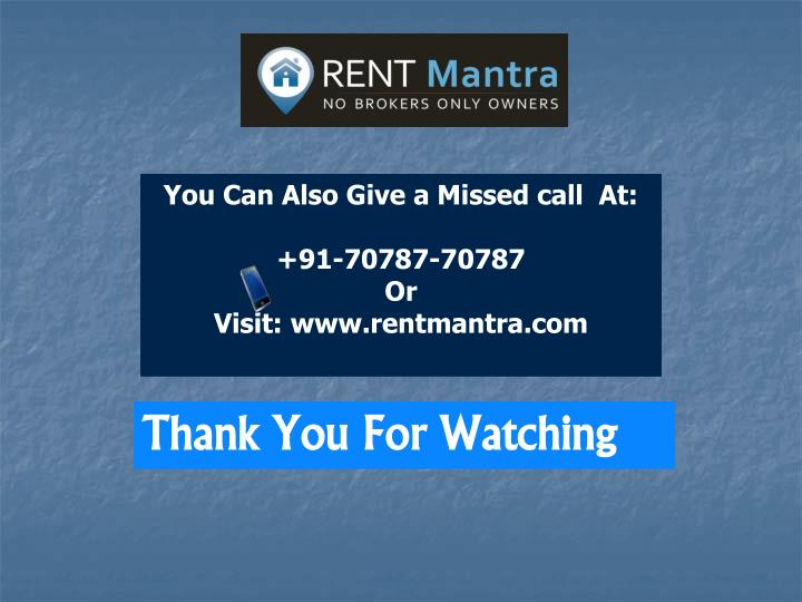 You Can Also Give a Missed call  At: