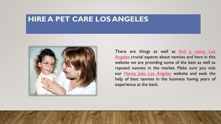 Hire a pet care los angeles