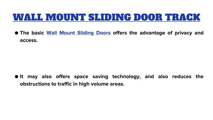WALL MOUNT SLIDING DOOR TRACK