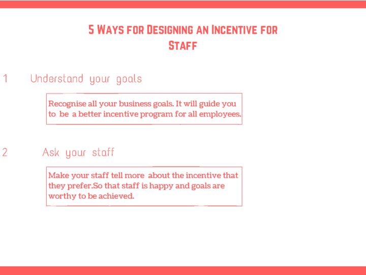 5 ways for designing an incentive for staff