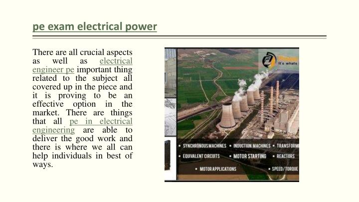 Pe exam electrical power